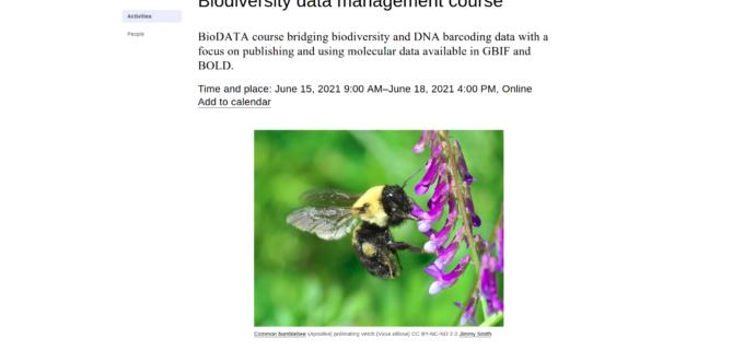 Biodiversity Data Managment Course